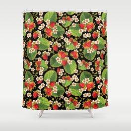 Strawberries Botanical Shower Curtain