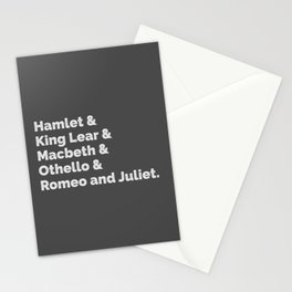 The Shakespeare Plays I Stationery Cards