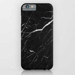 Marble Black Simple  iPhone Case