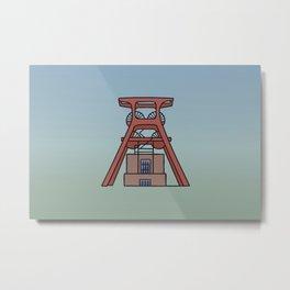 Zollverein Coal Mine Industrial Complex in Essen Metal Print