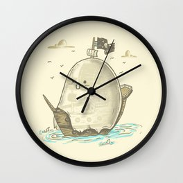 Ghost Ship Wall Clock