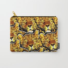 leopard graphic montage Carry-All Pouch