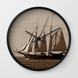 Goellette Grosse Ile Wall Clock
