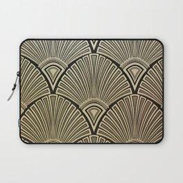 Golden Art Deco pattern Laptop Sleeve