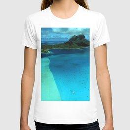 Bora Bora Lagoon Aerial T-shirt