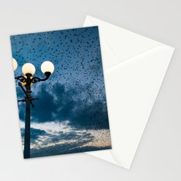A murmuration of starlings (II) Stationery Cards