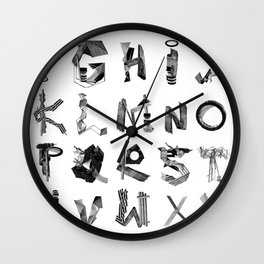 Avalanche ABC Wall Clock