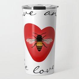 Love and Bee Loved Travel Mug