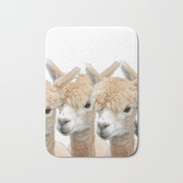 Alpaca Line Up Bath Mat