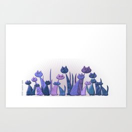 Vector Cats 2016 edition v4 Art Print