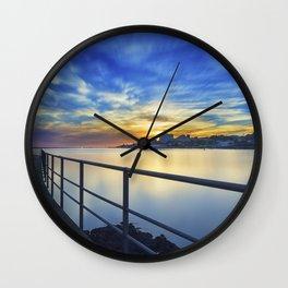 Smooth river. Wall Clock