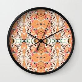 Tile Teal Tea Party Wall Clock