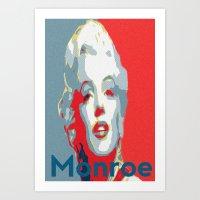Monroe for President Art Print