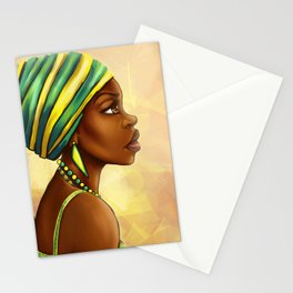 Green Yellow Wrap Stationery Cards
