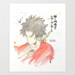 Samurai Champloo - Mugen Watercolour Art Print