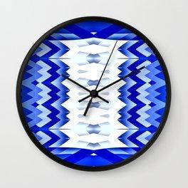 Striking Pencils-blue Wall Clock