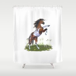 Rearing Horse Shower Curtain