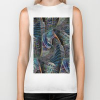 architect Biker Tanks featuring the delusional architect by David  Gough