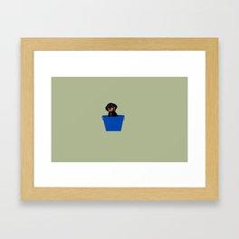 Griffey in a bucket Framed Art Print