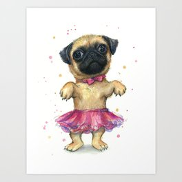 Art Animal Graphy Pug Dog Treat Food Eyes Cute Large Wall Art Poster Print