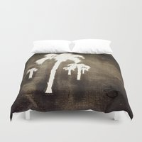 jamaica Duvet Covers featuring Shaking Those Trees by ANoelleJay