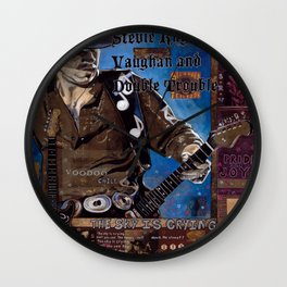 Stevie Ray Vaughan Wall Clock