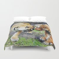 tigers Duvet Covers featuring Tigers by Irene Jaramillo
