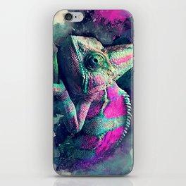 chameleon #chameleon #animals iPhone Skin