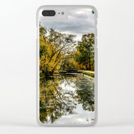 Autumn on the Canal Clear iPhone Case
