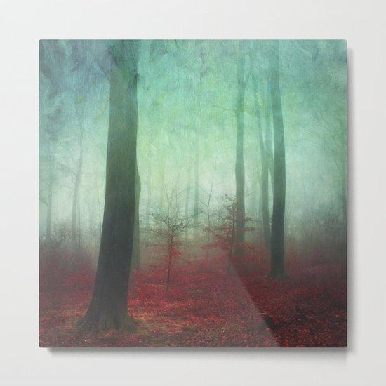 red forest floor Metal Print