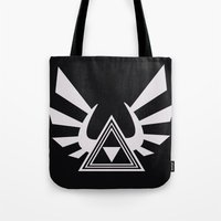 triforce Tote Bags featuring triforce by Black