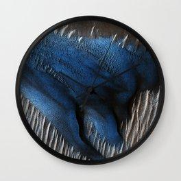 Particular Blue Dune on Mars Wall Clock