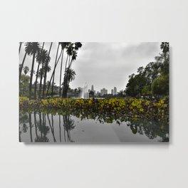 Echo Park Lake Reflection Metal Print