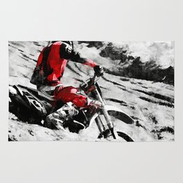 Owning The Mountain  -  Motocross Racer Rug
