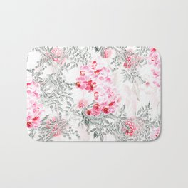 PINK ORCHIDS IN SPRING BLOOM Bath Mat