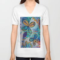 play V-neck T-shirts featuring play by spinfinite designs
