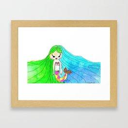 Elena sirena Framed Art Print