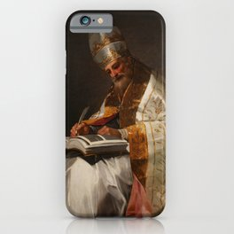 """Francisco Goya """"Saint Gregory the Great, Pope"""" iPhone Case"""