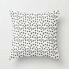 Natural & Dry Leaves  Throw Pillow