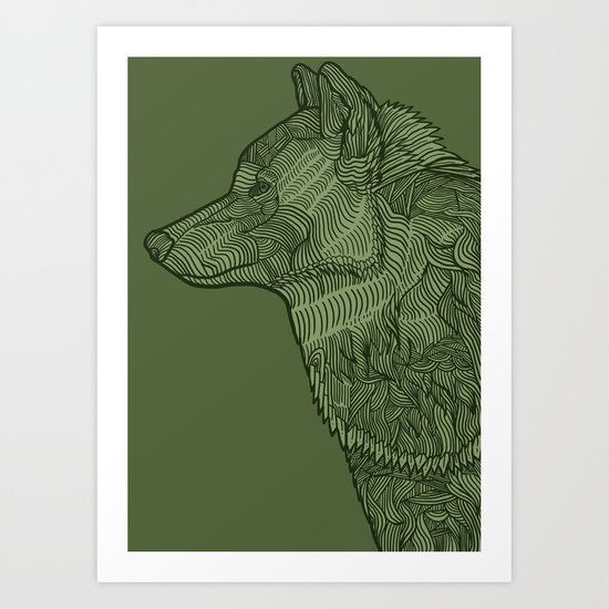 Enthusiastic Wolf Art Print