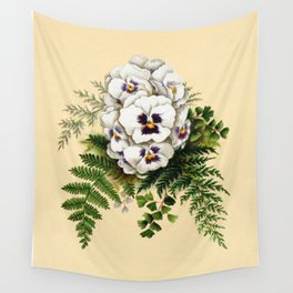 Pansy Easter Egg Wall Tapestry