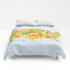 United States of America Map Comforters