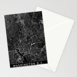 Washington D.C. Black Map Stationery Cards