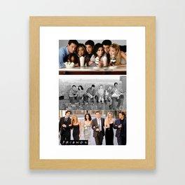 Friends collage Framed Art Print