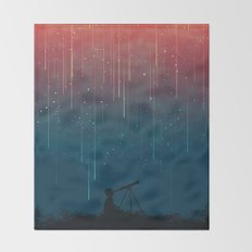Meteor rain Throw Blanket