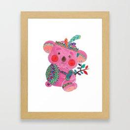 The Pink Koala Framed Art Print