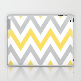 Gray & Yellow Chevron Laptop & iPad Skin