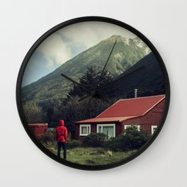 Red stalker hood! Wall Clock