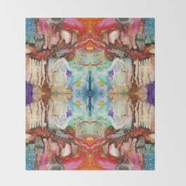 PATTERN Mandala Abstract Art Colorful Geometric Patterns Throw Blanket