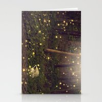 fireflies Stationery Cards featuring Fireflies by Maureen Anne